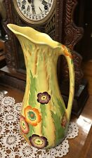 Rare Large circa 1930's Carlton Ware Jug Embossed with the Anemone Pattern