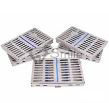 5X Sterilization Cassette Rack Tray Hold 10 Dental Surgical Instrument Autoclave