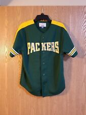 Vintage Green Bay Packers Starter Button Baseball Jersey Youth M EUC