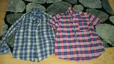 2 check shirts 1 long,1 short sleeved