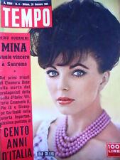 TEMPO n°4 1961  Joan Collins - Mina vuole vincere Sanremo - [C91]