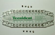 Tecnident Orthodontic Brackets Roth 018 Metallic With hook (Set)