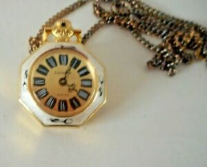 Small Vintage Lucerne Swiss Wind up Pendant Watch & Chain Working