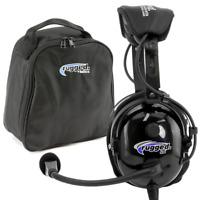 Rugged Air RA900 General Aviation Pilot Headset GA Stereo Dual Plugs w MP3 Input