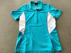 Galvin Green Damen Golf Polohemd M Aqua - Gebraucht