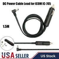 Right Angle DC Power Cable Lead 1.5M 18AWG WINDCAMP for ICOM IC-705 Car Lighter