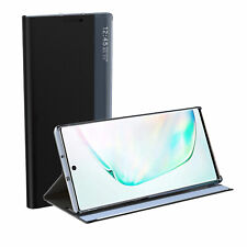 For Samsung Note 10 S20 S10 S9 Plus Smart View Window Leather Flip Case