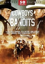 COWBOYS & BANDITS: 50 MOVIE COLLECTION - DVD - Sealed Region 1