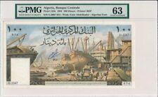 Banque Centrale Algeria  100 Dinars 1964 Large Note PMG  63