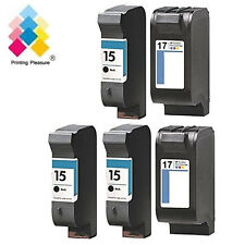 5 Ink Cartridge replace for HP 15 & 17 HP Deskjet 841c 842c 843c 845c 845cvr