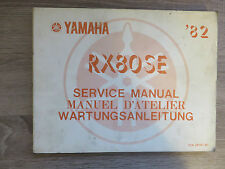 Yamaha Instructions de maintenance RX80 SE ´82 12N service manual manuel D`