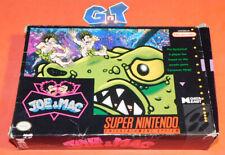 JOE & MAC Super Nintendo Near CIB SNES: Cleaned/Tested