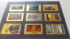 Lots de phonecard * Japon paysage plaque Or rare *