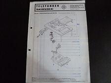 Original Service Manual Telefunken Recorder HCC 66 Hifi Plattenspieler Dual 1237
