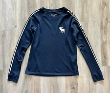 Abercrombie & Fitch Kids Girls blouse top long sleeve with logo blue 11 | 12