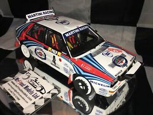 1:18 Kyosho KY8343A Didier Auriol Lancia Delta HF Integrale 1992 MC Rally winner