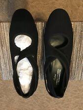 381715fb71b Donald J Pliner Couture Black Suede Ballet Flats Mary Jane Size 8M Shoes