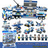 762Pcs lego City Special Police Series SWAT: 8 IN 1 Truck Station Building Block