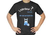 Tshirt Shirt L schwarz Herren Oktoberfest lustig Dirndl Spruch Wiesn