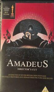 Amadeus Directors cut VHS Rare Great Movie Winner of Eight Academy Awards