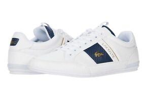 LACOSTE Chaymon 0120 1 Men's Casual Leather Fashion Shoes Sneakers Black White