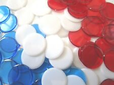 "Patriotic- 300 Plastic Bingo Chip Pack (Red/Blue/White) 7/8"" Diameter"
