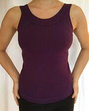 LULULEMON Size 6 Scoop Neck Tank Running Fitness Yoga Bra Top Deep Purple VGUC