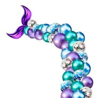 2X(44PCS Mermaid Tail Balloon Arch Set Baby Shower Kids Happy Birtay Party  4J2)