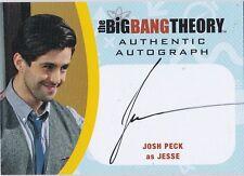 THE BIG BANG THEORY SEASONS  6 & 7 JPE2 JOSH PECK AS JESSE AUTOGRAPH