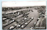 *Basel Kleinhuninger Rheinhafen Harbor Port of Switzerland Vintage Postcard C43