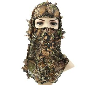 MILITARY TACTICAL HUNTING 3D LEAVES CAMOUFLAGE FULL FACE MASK HEADWEAR