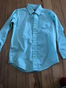 Boys George Dress Shirt Size S(6-7) Mint Green