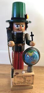 """Vintage Steinbach Christopher Columbus Nutcracker Germany S697 1492 Globe 16"""""""