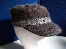 NWT, $28. MSRP, Womens APT 9 RAISED RIB MARLED CADET CAP HAT, ONE SIZE, BROWN