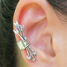 Arrows Ear Cuff No Piercing Pierce Clip Wrap Industrial crawler orbital Lobe