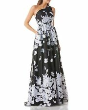 Carmen Marc Valvo Infusion One-Shoulder Ball Gown $458 Size 4 # 8A 117 NEW