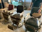 3 Antique Koch Barber Chairs