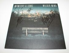 MUMFORD AND SONS BAND SIGNED 'WILDER MIND' ALBUM VINYL RECORD LP COA MARCUS & CO
