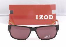 New Izod Sunglasses IZS 764 Brown Laminate 57-15-135  w/ Case retail $129