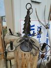 VINTAGE RUSTIC CABIN COTTAGE chandelier bears pine tree hanging light