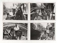 4 PHOTOS ANCIENNES - ITALIE  - VENISE - VENEZIA - Gondole Transport Barque 1960