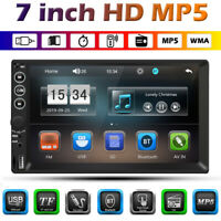2 DIN 7 inch Car Auto Stereo MP5 Player TFT Touch Screen USB AUX-In FM Radio