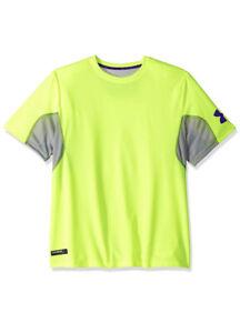 Under Armour Sz L Combined Training Short Sleeve Tee Shirt Fluor 1242808-731 NWT