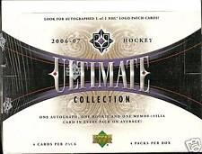 2006-07 Ultimate Collection Hockey Hobby Box  Engeni Maklin  Phil Kessel RC's ??