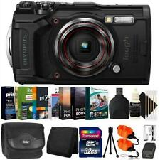 Olympus Tough TG-6 Digital Camera Black + 32GB Card + Photo Editor Bundle & Kit