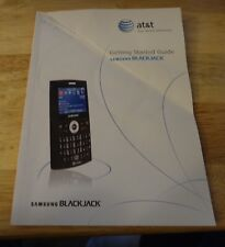 Original Samsung Blackjack Cell Phone Instruction Manual At&T/Cingular