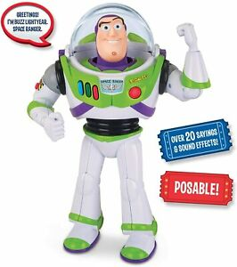 Disney 12'' Talking Buzz Lightyear Action Figure Toy Story Christmas Gift Kid's