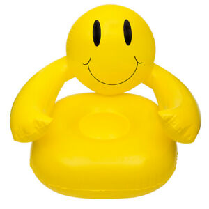 36'' Smiling Happy Face Inflatable Chair Fun Playroom Inflatable Chair