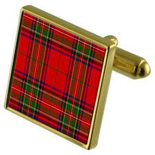 Tartan Clan Stuart Gold Cufflinks