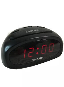 Sharp Digital LED Alarm Clock with Top Snooze Battery Backup, Model - SPC095